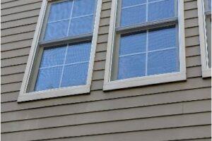 Back of house 2nd story windows