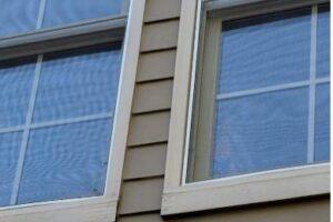 Back of house 2nd story windows - close up