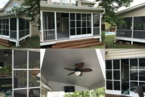 Completed Screen Porch - All Angles